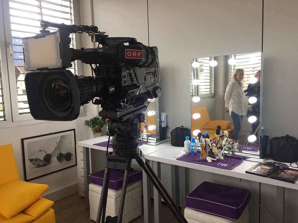 ORF Südtirol Heute - Drehtag im i.see-Studio - Moderation Ines Huber - Kamera Hartmann Seeber